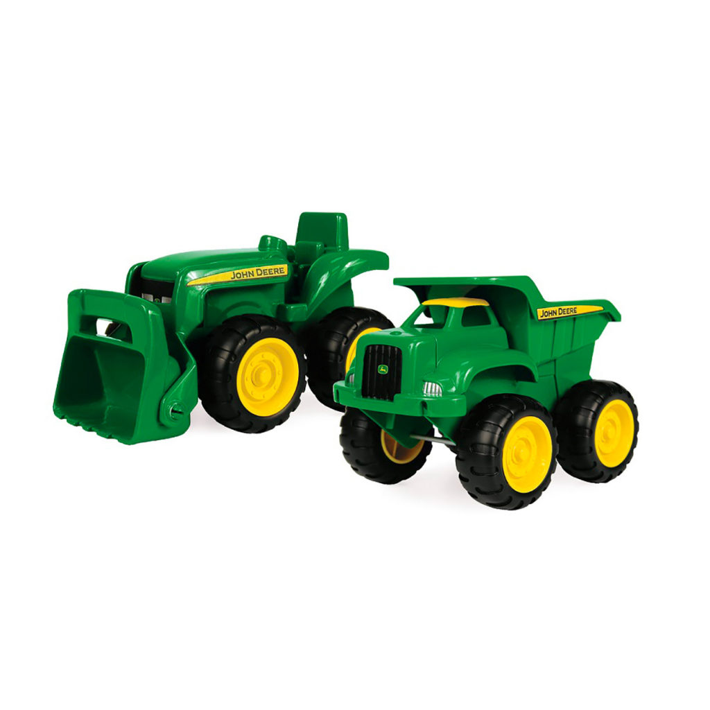 Conjunto Tractor Excavadora y Camión de Carga John Deere