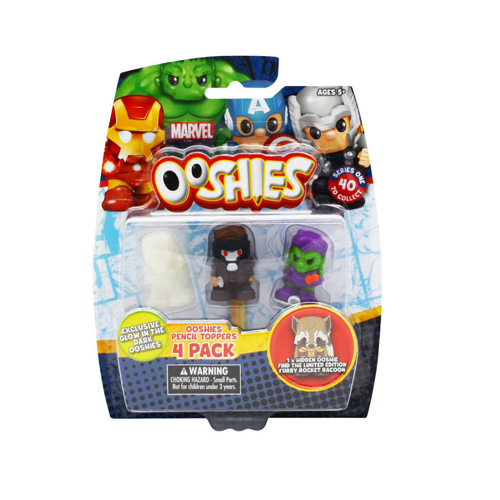 Ooshies Marvel – Pack 4 Personajes
