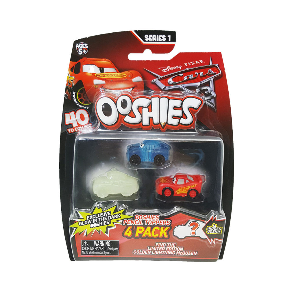 Ooshies Cars – Pack 4 Personajes