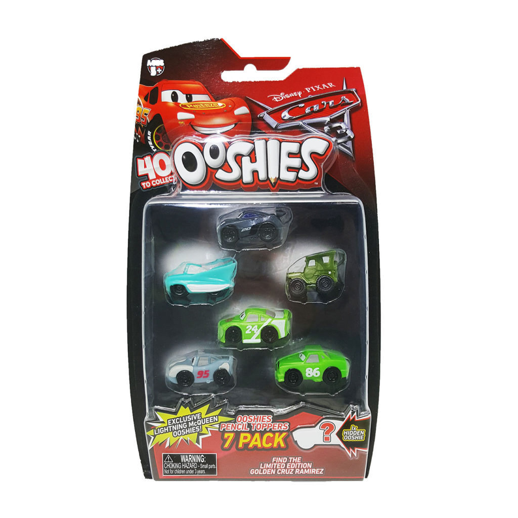 Ooshies Cars – Pack 7  Personajes