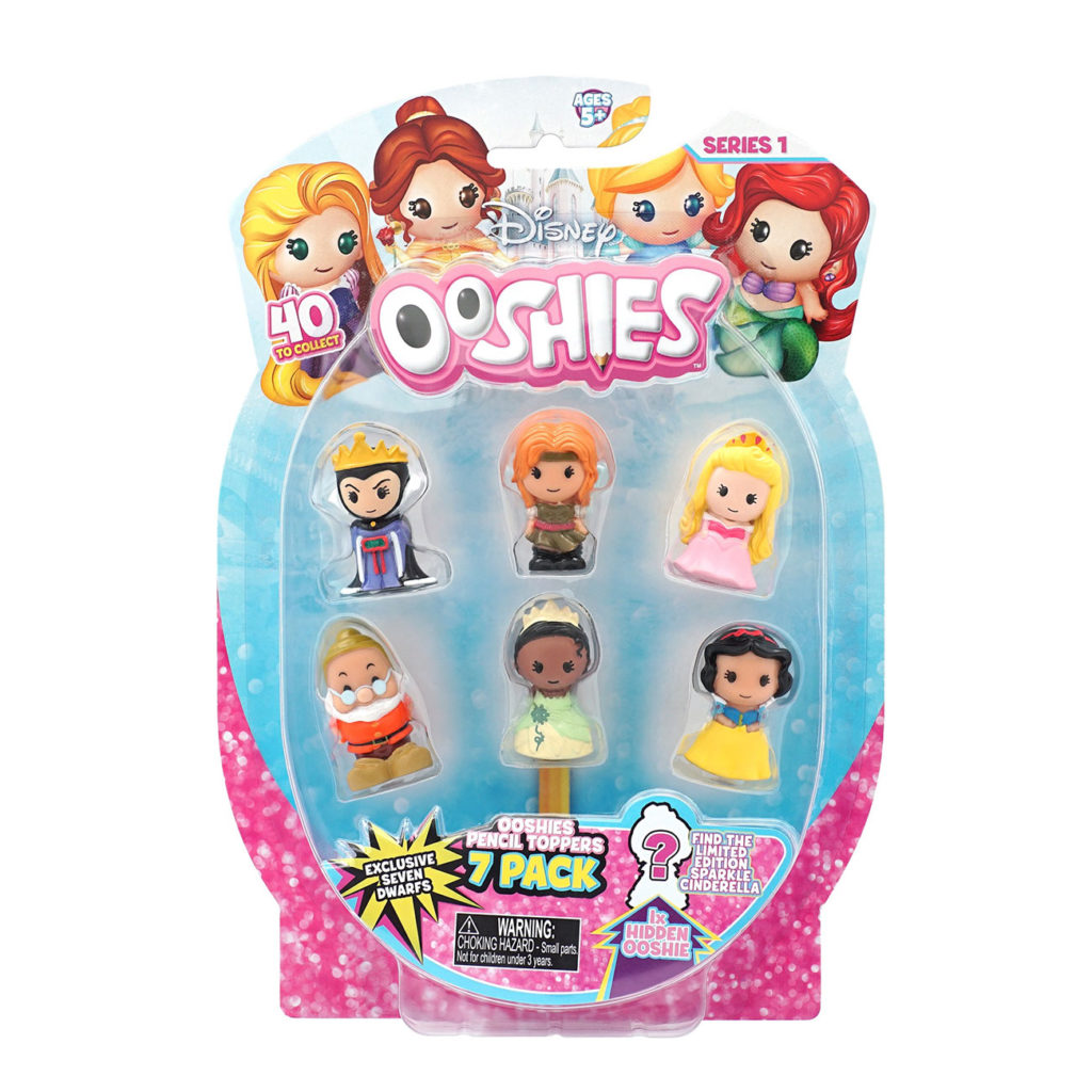 Ooshies Princesas Disney – Pack 7 Personajes