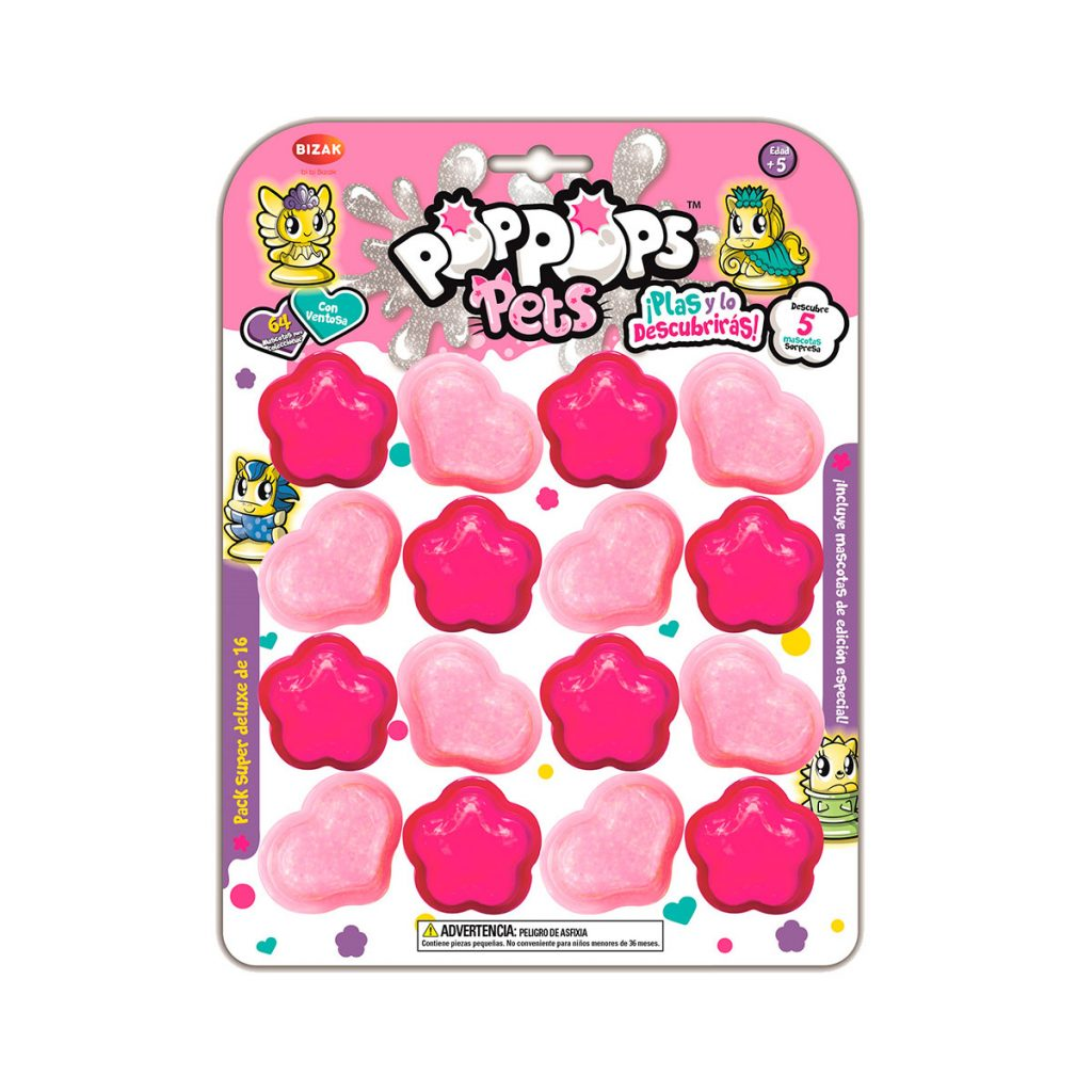 Pop Pops Pets Pack Super Deluxe de 16