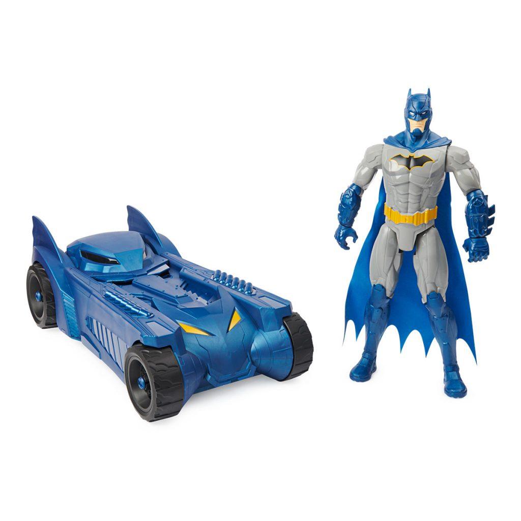 Batman Batmovil Escala 30cm + Figura Bat Tech