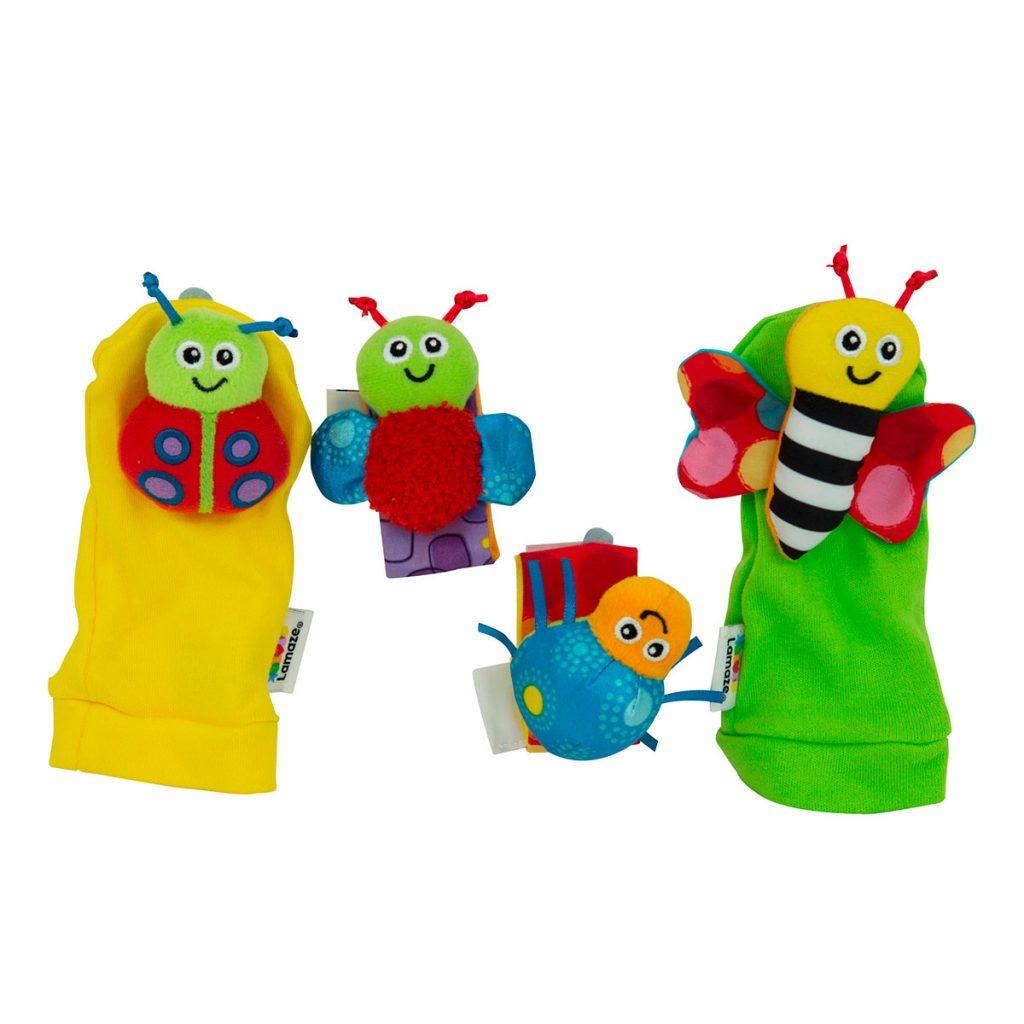 Sonajeros para Muñeca y Calcetines Insectos