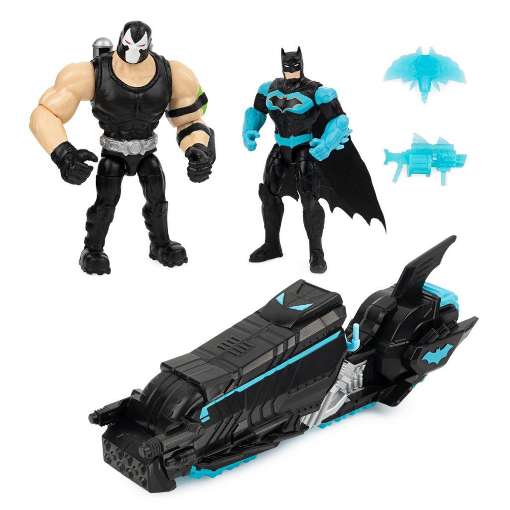 Batman Batmoto con 2 Figuras 10cm Bat Tech